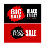 Modello di progettazione dell'iscrizione di vendita di Black Friday migliore Vettore dell'insegna di Black Friday Immagine Stock