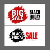 Modello di progettazione dell'iscrizione di vendita di Black Friday migliore Vettore dell'insegna di Black Friday Fotografia Stock Libera da Diritti
