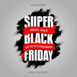 Modello di progettazione dell'iscrizione di vendita di Black Friday migliore Vettore dell'insegna di Black Friday Fotografie Stock Libere da Diritti