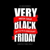 Modello di progettazione dell'iscrizione di vendita di Black Friday migliore Vettore dell'insegna di Black Friday Immagini Stock Libere da Diritti