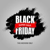 Modello di progettazione dell'iscrizione di vendita di Black Friday migliore Vettore dell'insegna di Black Friday Fotografie Stock