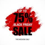 Modello di progettazione dell'iscrizione di vendita di Black Friday migliore Vettore dell'insegna di Black Friday Immagine Stock Libera da Diritti