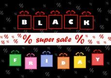 Modello di progettazione dell'iscrizione di vendita di Black Friday Fotografia Stock Libera da Diritti
