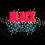 Modello di progettazione dell'iscrizione di vendita di Black Friday Insegna nera di venerdì Illustrazione di vettore Fotografia Stock
