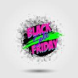 Modello di progettazione dell'iscrizione di vendita di Black Friday Insegna nera di venerdì Illustrazione di vettore ENV 10 Fotografia Stock Libera da Diritti