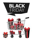 Modello di progettazione dell'iscrizione di vendita di Black Friday Insegna nera di venerdì Vector il manifesto di vendita dell'i Immagini Stock