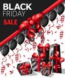 Modello di progettazione dell'iscrizione di vendita di Black Friday Insegna nera di venerdì Vector il manifesto di vendita dell'i Fotografia Stock Libera da Diritti