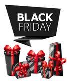 Modello di progettazione dell'iscrizione di vendita di Black Friday Insegna nera di venerdì Vector il manifesto di vendita dell'i Fotografie Stock Libere da Diritti