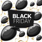 Modello di progettazione dell'iscrizione di vendita di Black Friday Insegna nera di venerdì Vector il manifesto di vendita dell'i Immagine Stock
