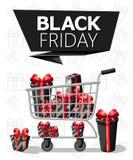 Modello di progettazione dell'iscrizione di vendita di Black Friday Insegna nera di venerdì Vector il manifesto di vendita dell'i Immagini Stock Libere da Diritti