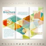 Modello di progettazione dell'opuscolo Fotografia Stock