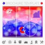 Modello di progettazione dell'opuscolo Fotografie Stock Libere da Diritti