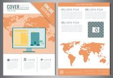 Modello di progettazione dell'opuscolo di viaggio Concetto di turismo e di corsa Vettore Immagine Stock