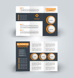 Modello di progettazione dell'opuscolo per la pubblicità di istruzione di affari Libretto ripiegabile royalty illustrazione gratis