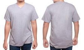 Modello di progettazione della camicia del collo a V di Misty Grey Immagini Stock Libere da Diritti