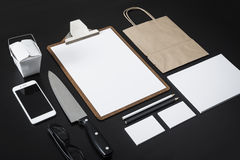 Modello di progettazione della carta intestata del ristorante Fotografia Stock