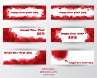 Modello di progettazione della cartolina d'auguri con testo moderno per 2018 nuovi Immagine Stock Libera da Diritti