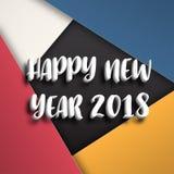 Modello di progettazione della cartolina d'auguri con testo moderno per 2018 nuovi Fotografia Stock