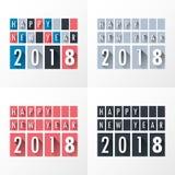 Modello di progettazione della cartolina d'auguri con testo moderno per 2018 nuovi anni Fotografia Stock