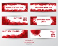 Modello di progettazione della cartolina d'auguri con testo moderno per 2018 nuovi anni illustrazione vettoriale