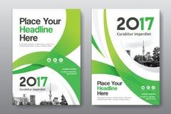 Modello di progettazione della copertina di libro di affari del fondo della città in A4 immagini stock