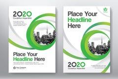 Modello di progettazione della copertina di libro di affari del fondo della città in A4 fotografia stock