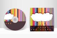 Modello di progettazione della copertura del CD Fotografie Stock