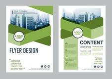 Modello di progettazione della disposizione dell'opuscolo della pianta Presentazione della copertura dell'opuscolo dell'aletta di Immagine Stock