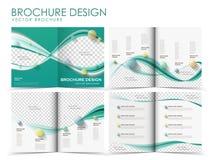 Modello di progettazione della disposizione dell'opuscolo di vettore Fotografie Stock Libere da Diritti