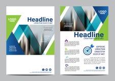 Modello di progettazione della disposizione dell'opuscolo Fondo moderno di presentazione della copertura dell'opuscolo dell'alett illustrazione di stock