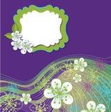 Modello di progettazione della primavera. Fiori della ciliegia e linea BAC Immagine Stock