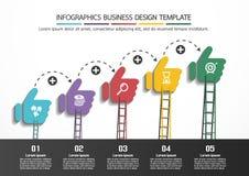 Modello di progettazione di affari di Infographics Fotografie Stock Libere da Diritti