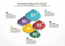 Modello di progettazione di affari di Infographics Immagine Stock Libera da Diritti