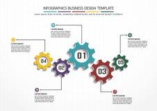 Modello di progettazione di affari di Infographics Fotografie Stock