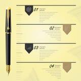 Modello di progettazione di affari, infographic e sito Web Fotografia Stock Libera da Diritti