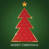 Modello di progettazione di carta del triangolo dell'albero di Buon Natale Illus di vettore Royalty Illustrazione gratis