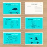 Modello di progettazione di carte di viaggio Fotografia Stock