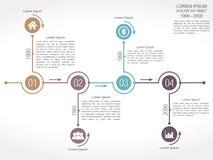 Modello di progettazione di cronologia Fotografia Stock Libera da Diritti