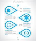 Modello di progettazione di cronologia di Infographic con le etichette di carta Fotografie Stock