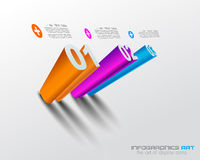 modello di progettazione di 3D Infographic con le ombre. Immagine Stock