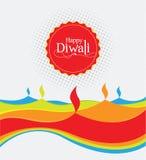 Modello di progettazione di Diwali della carta di vettore Immagine Stock