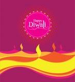 Modello di progettazione di Diwali della carta di vettore Fotografia Stock Libera da Diritti