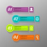 Modello di progettazione di Infographic Fotografie Stock