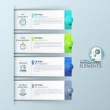 Modello di progettazione di Infographic con 4 elementi rettangolari, opzioni per successo di affari royalty illustrazione gratis