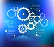 Modello di progettazione di Infographic con il gea Fotografia Stock Libera da Diritti