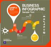 Modello di progettazione di Infographic con l'illustrazione grafica dell'insieme di elementi Archivio di vettore negli strati per Immagini Stock Libere da Diritti