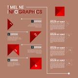 Modello di progettazione di Infographic con l'illustrazione grafica dell'insieme di elementi Archivio di vettore negli strati per Fotografie Stock Libere da Diritti
