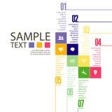 Modello di progettazione di Infographic con l'illustrazione grafica dell'insieme di elementi Archivio di vettore negli strati per Fotografia Stock