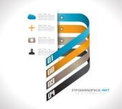 Modello di progettazione di Infographic con le etichette di carta Fotografie Stock Libere da Diritti