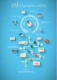 Modello di progettazione di Infographic con le etichette di carta Immagine Stock Libera da Diritti